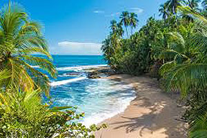 Costa Rica island beach view